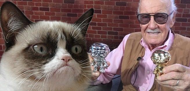stan lee grumpy cat