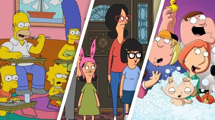the simpsons bob's burgers family guy
