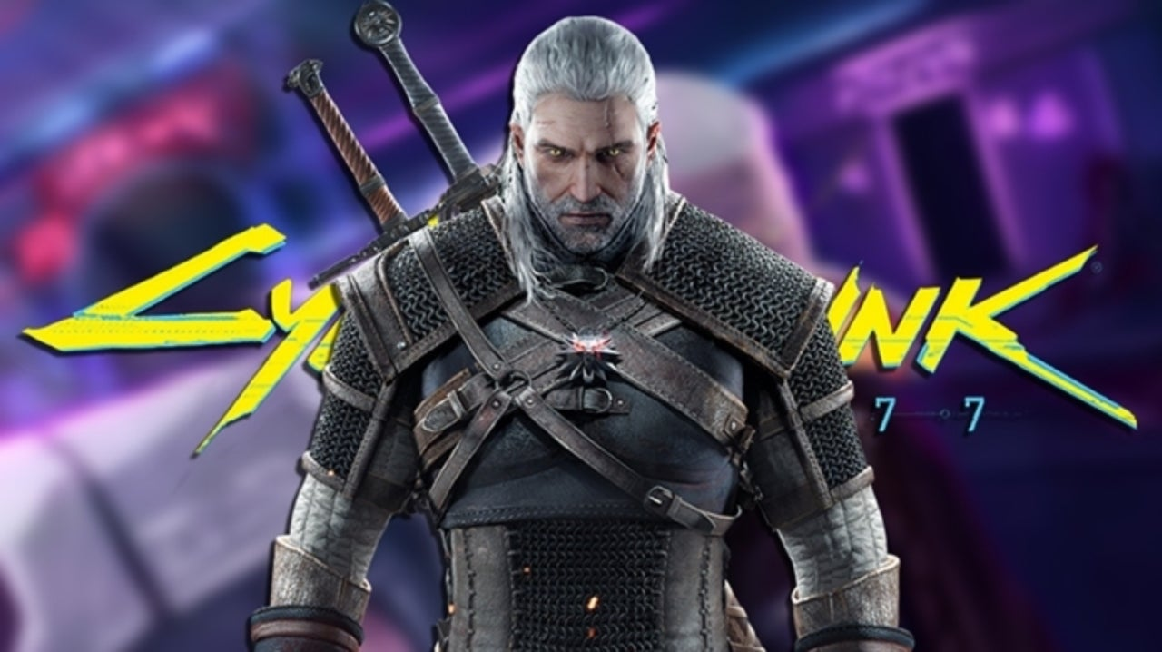 The Witcher's Geralt Invades Cyberpunk 2077 in Incredible Fan Art