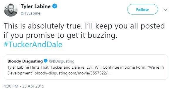 tucker and dale vs evil sequel tyler labine