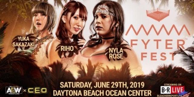 AEW-Fyter-Fest-Riho-Nyla-Rose-Yuka-Sakazaki