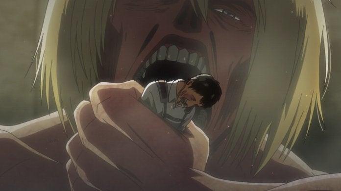 Attack on Titan Season 3 Episode 55 Armin Colossus Titan Erwin Dies