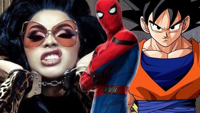 cardi b spiderman goku