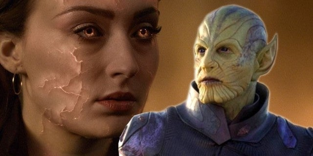 Dark Phoenix Star Confirms Skrulls Were Originally Major Factor. Alternate Ending Revealed