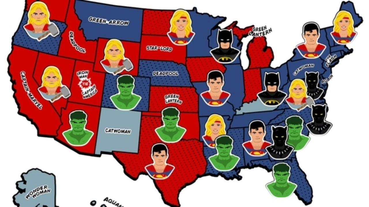DC Beats Marvel in New Comic Book Universe Search Data Study