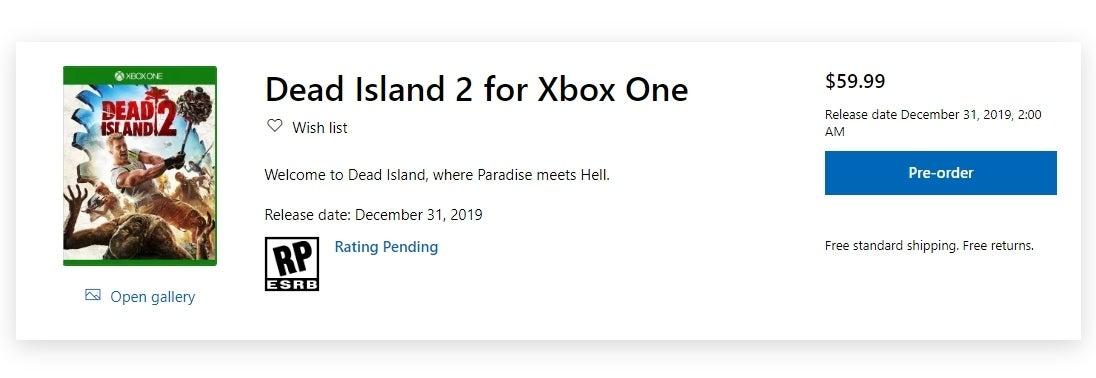 Dead Island 2 Pre-orders