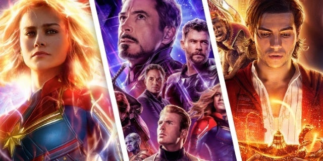 disney box office 2019 captain marvel avengers endgame aladdin