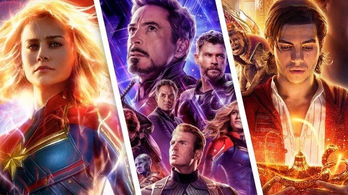 disney box office 2019 captain marvel avengers endgame aladdin