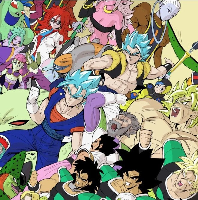 Dragon Ball Super Broly and FighterZ Mural by Christopher Cayco
