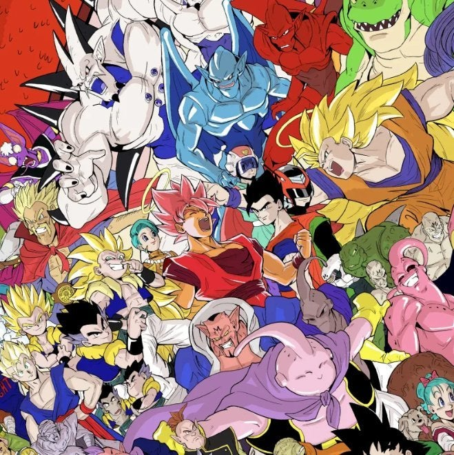 Dragon Ball Z Majin Buu Saga and GT Mural by Christopher Cayco