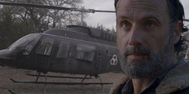 Fear the Walking Dead helicopter Rick Grimes comicbookcom