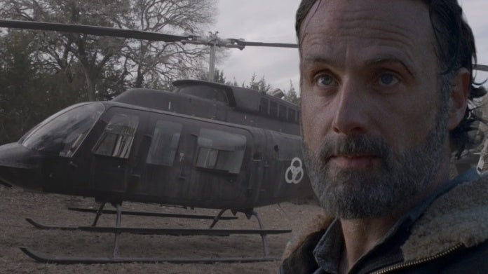 Fear the Walking Dead helicopter Rick Grimes comicbookcom