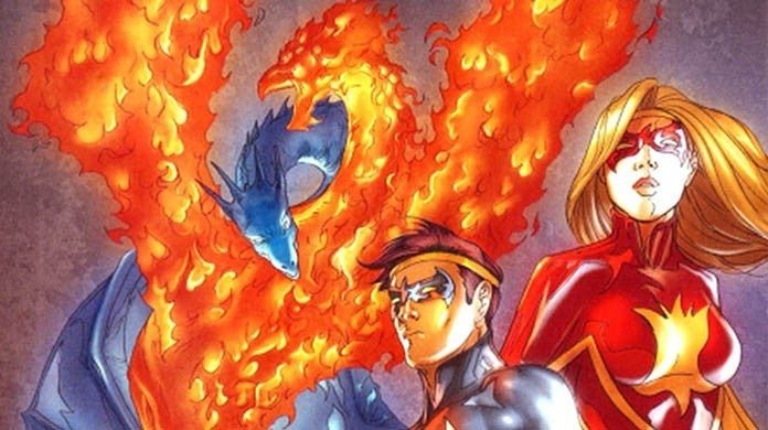 flamebird and nightwing dc