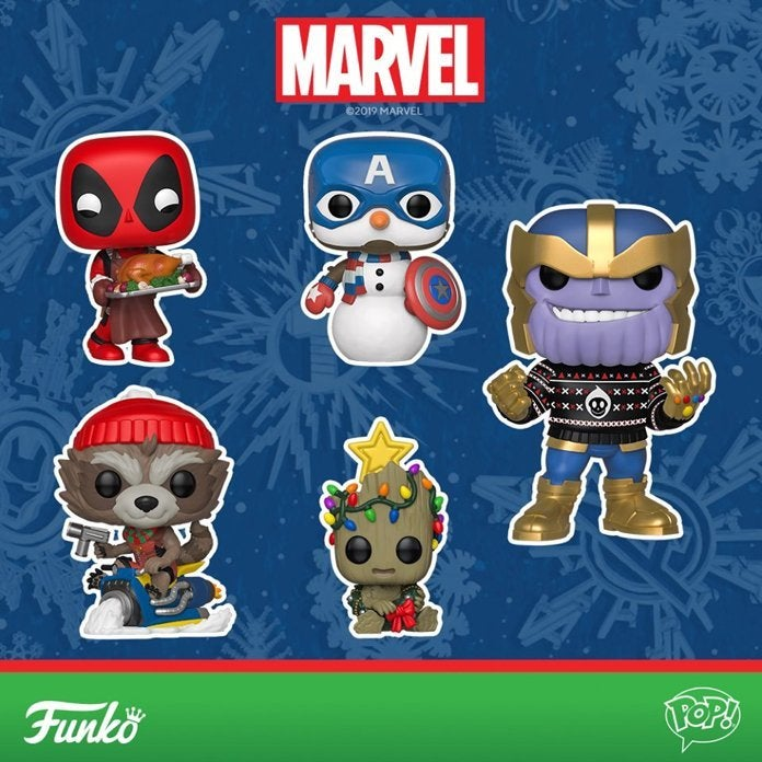 Marvel Christmas.Funko S New Marvel Holiday Pops Are Christmas In June