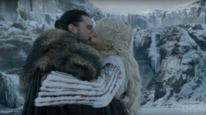 game of thrones daenerys targaryen jon snow kiss