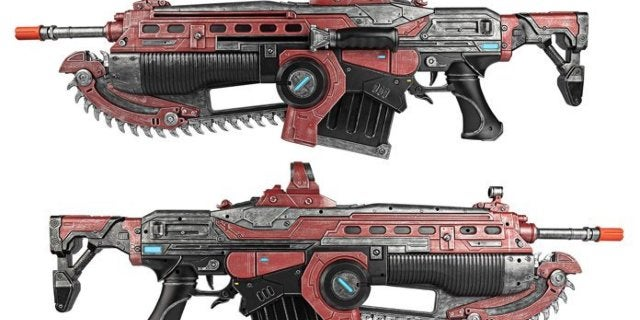 Gears 5 Crimson Lancer MK3 Prop Replica Weapon Is up for Pre-Order
