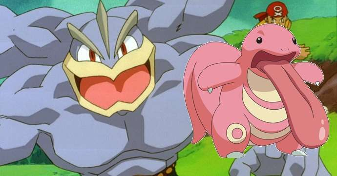 Machamp Lickitung