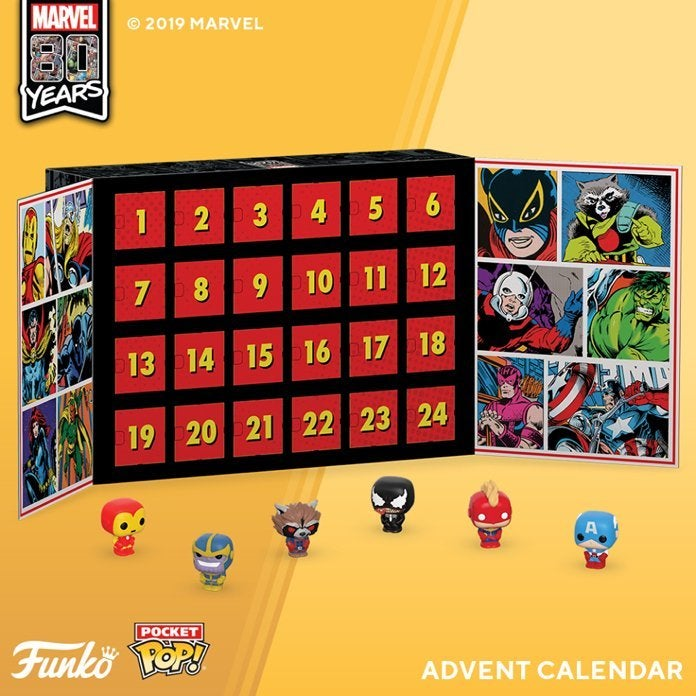 Harry Potter Advent Calendar.The Battle For 2019 Funko Pop Marvel And Harry Potter Advent
