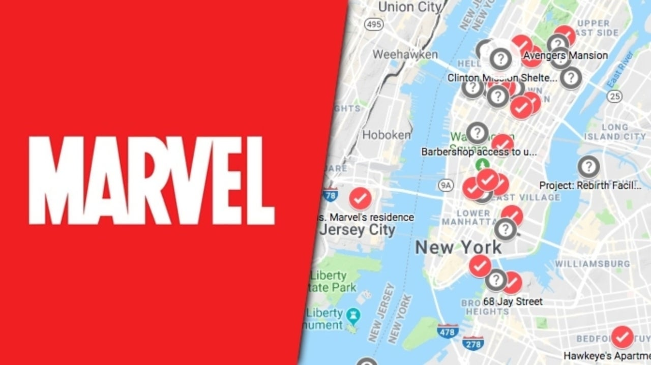 Die Hard Marvel Fan Plots Every Landmark in New York City on a Map