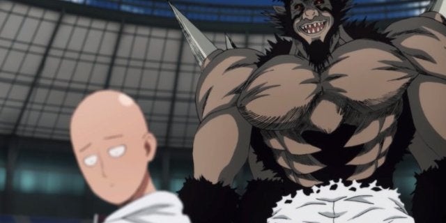 One-Punch Man Season 2 Saitama vs Bakuzan Fight