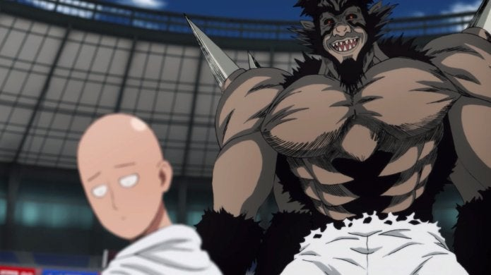 One-Punch Man Season 2 Saitama vs Bakuzan Fight