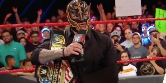 Watch: Rey Mysterio Officially Relinquishes United States Championship, Samoa Joe Crowned New Champion