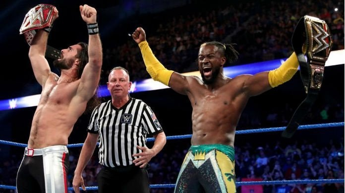 Seth-Rollins-Kofi-Kingston-Stomping-Grounds