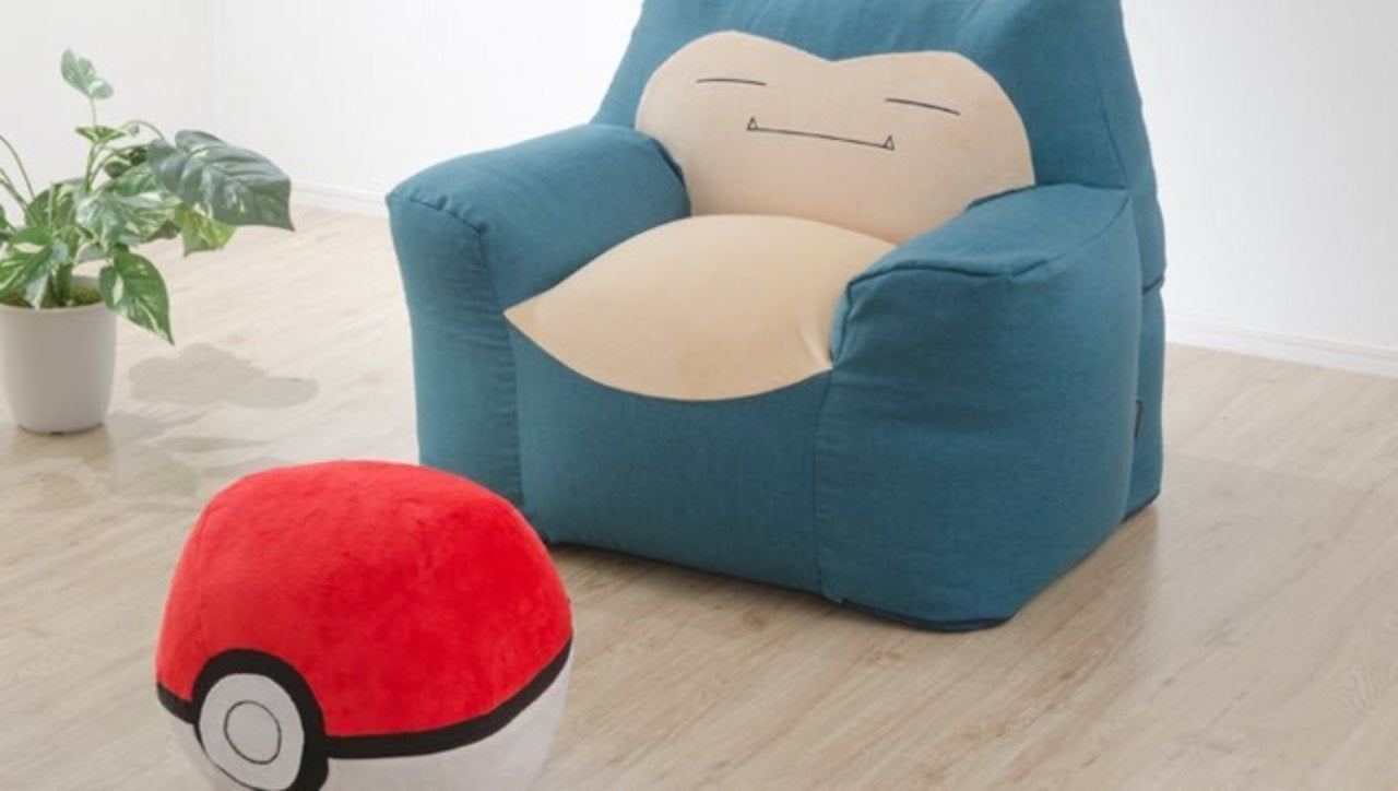 Peachy Catch A Nap On This Comfy Snorlax Bean Bag Chain Poke Ball Gmtry Best Dining Table And Chair Ideas Images Gmtryco