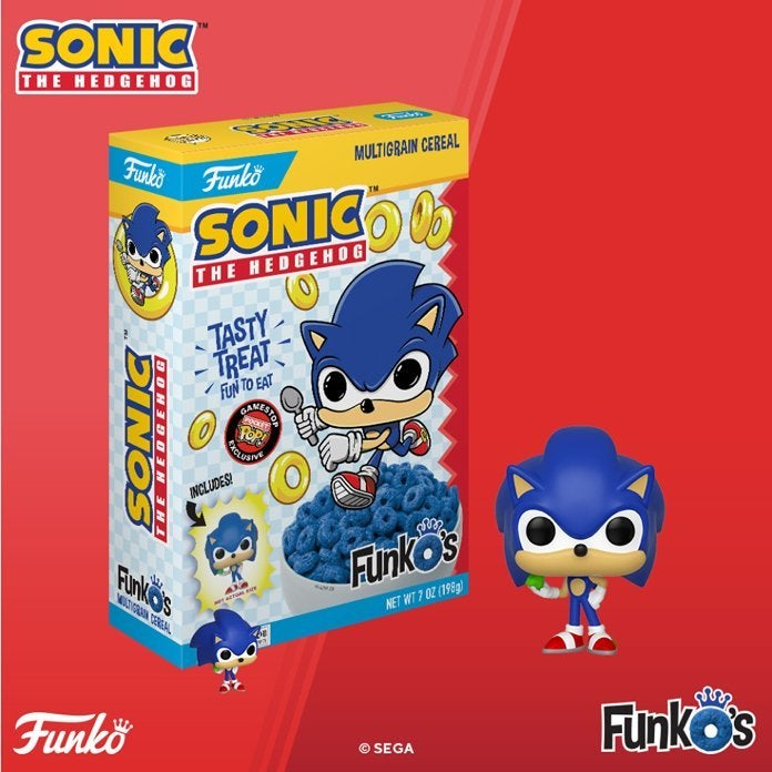 Sonic The Hedgehog Funko Pop Cereal Will Go Fast