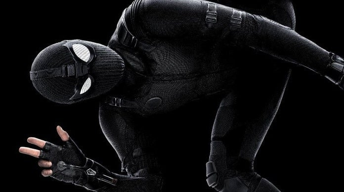 spider man far from home stealth suit poster