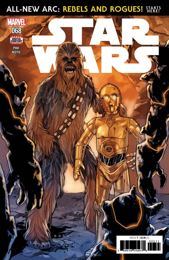 star wars 68 marvel comics cover