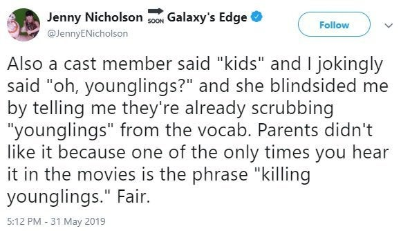 star wars galaxy's edge younglings