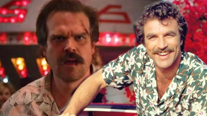 stranger things david harbour tom selleck