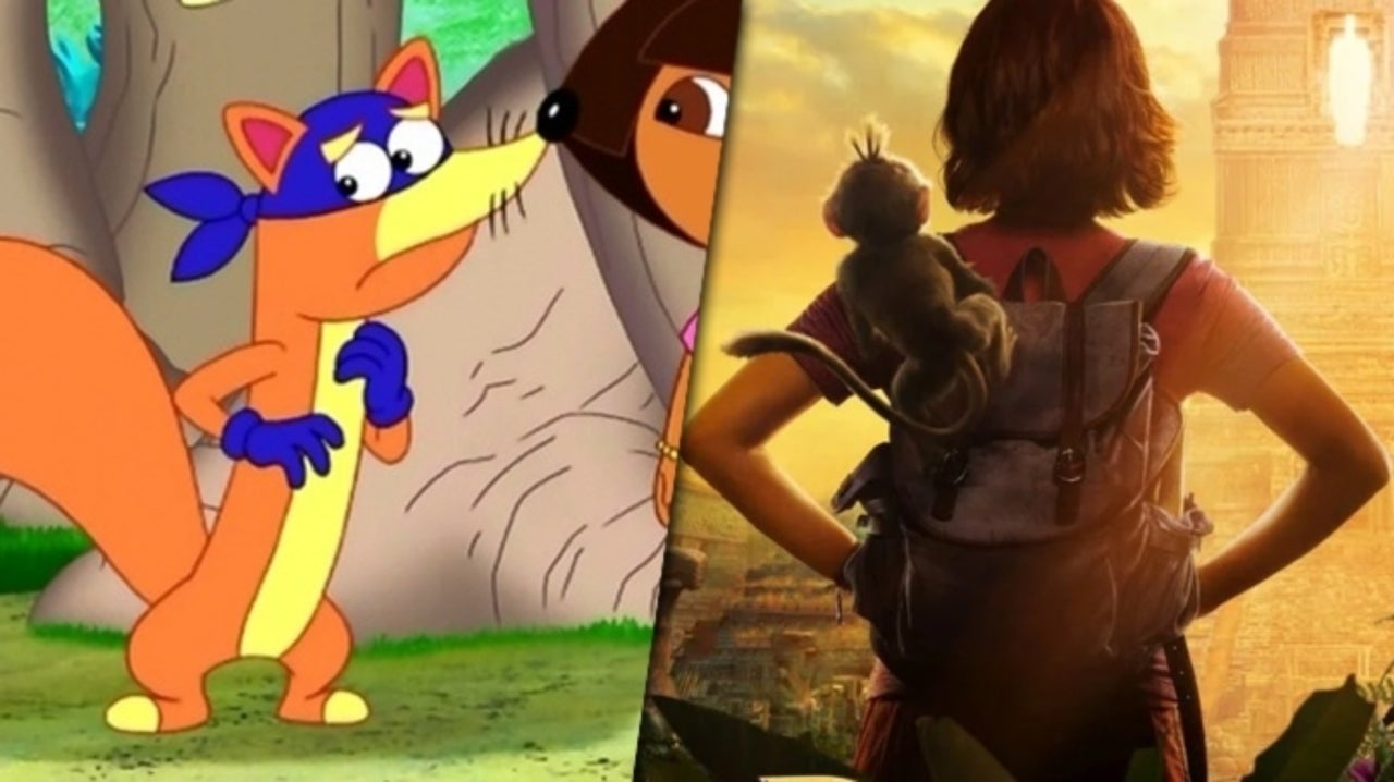 Dora And The Lost City Of Gold First Look At Swiper Surfaces