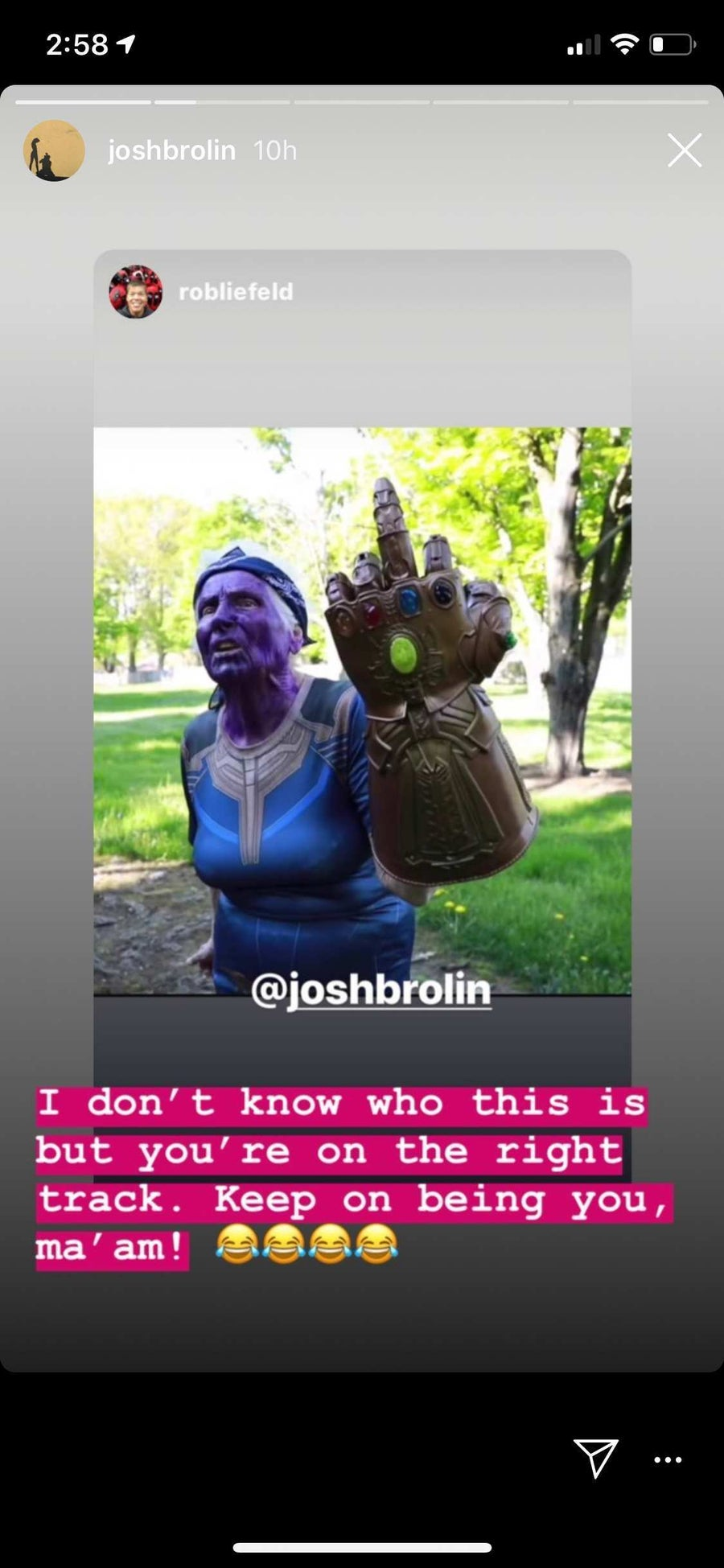 Thanos Middle Finger Infinity Gauntlet