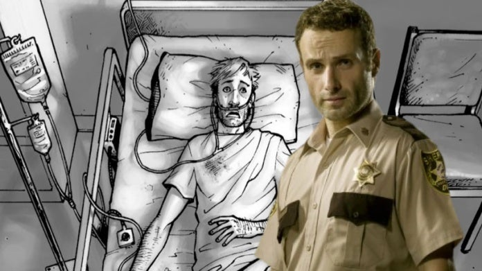 The Walking Dead Rick coma