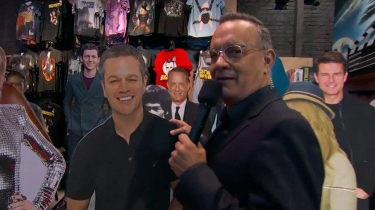 Watch Toy Story 4's Tom Hanks Deface a Matt Damon Standee