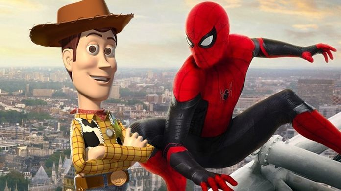 toy story 4 spider man far from home