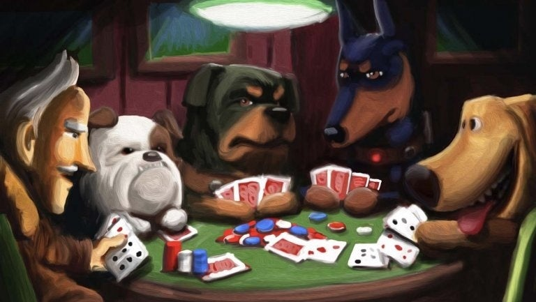 up poker painting toy story 4