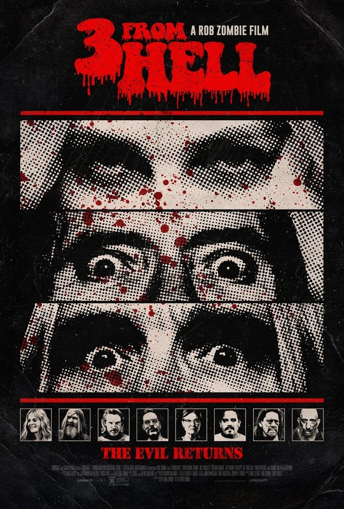 3 from hell official poster rob zombie 2019