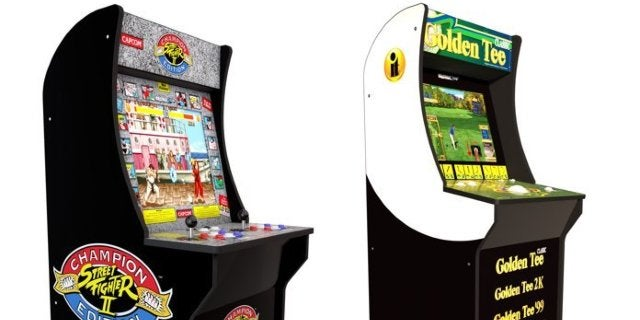 Save $100 on Street Fighter 2 and Golden Tee Arcade1Up Cabinets