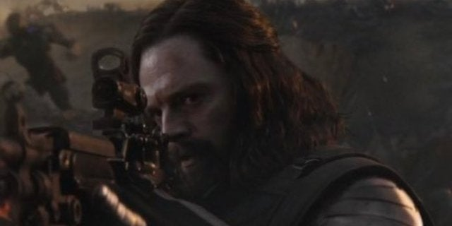 Avengers Endgame Final Battle Bucky Winter Soldier Man Bun Hairdo