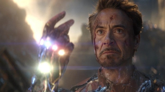 Avengers Endgame Iron Man snap