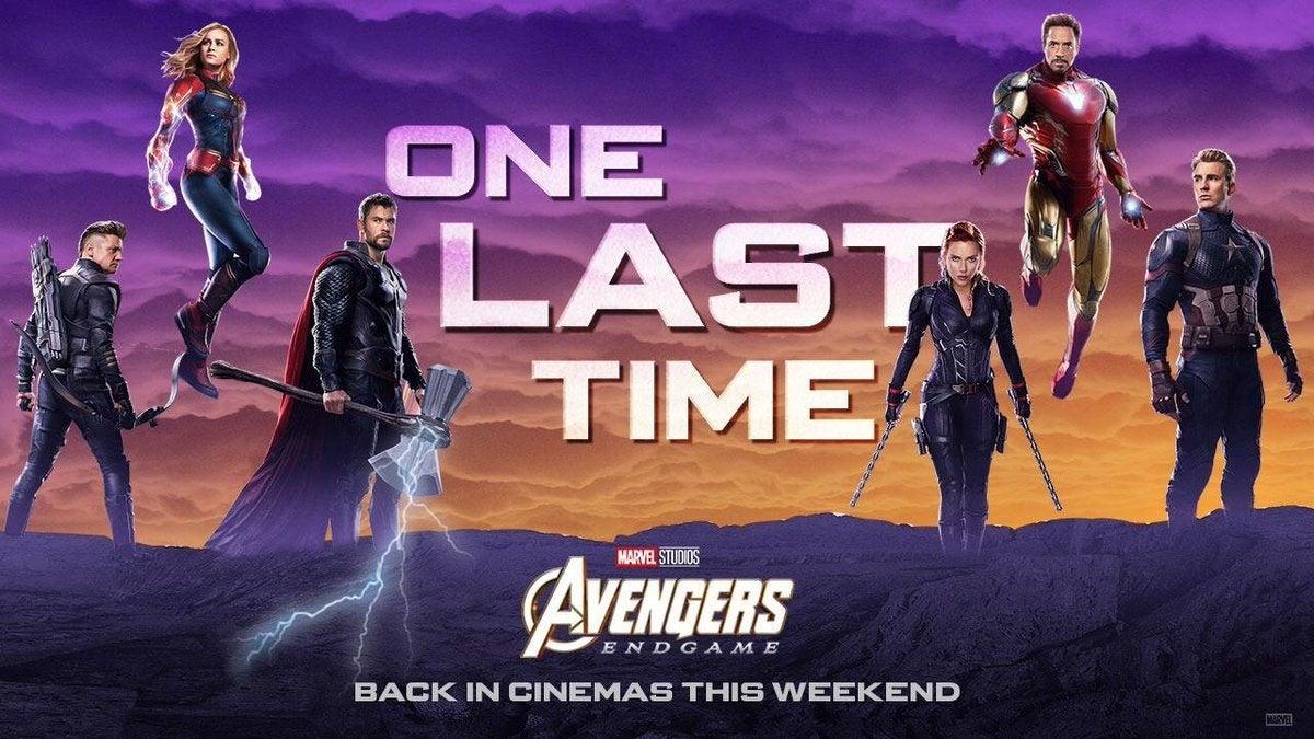 avengers endgame re release