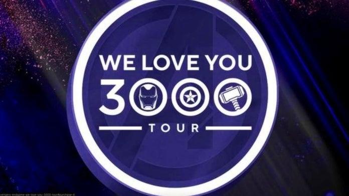 Avengers Endgame We Love You 3000 Tour