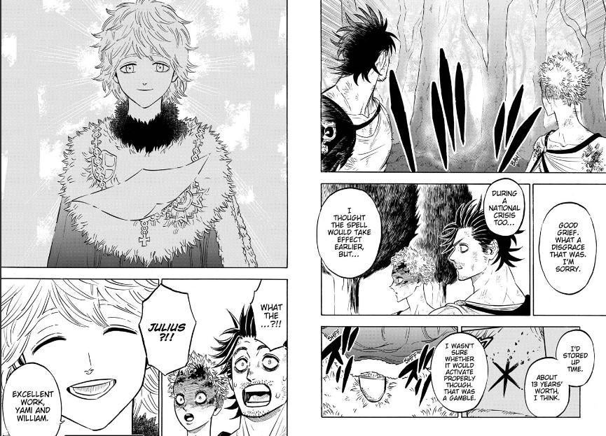 Black Clover Shockingly Brings Spoiler To Life Julius novachrono is the current wizard king and was the former strongest magic knight in the clover kingdom. black clover shockingly brings spoiler