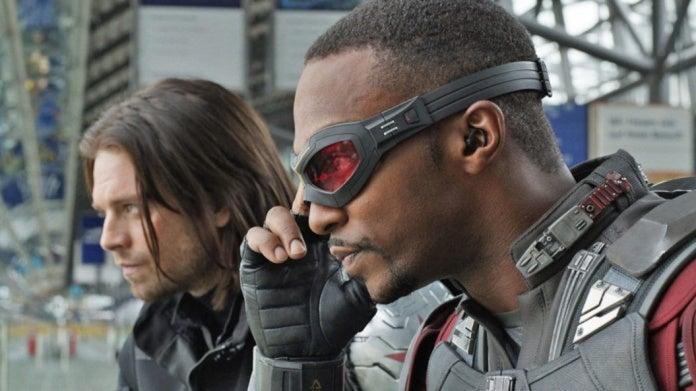 Bucky Falcon Captain America Civil War