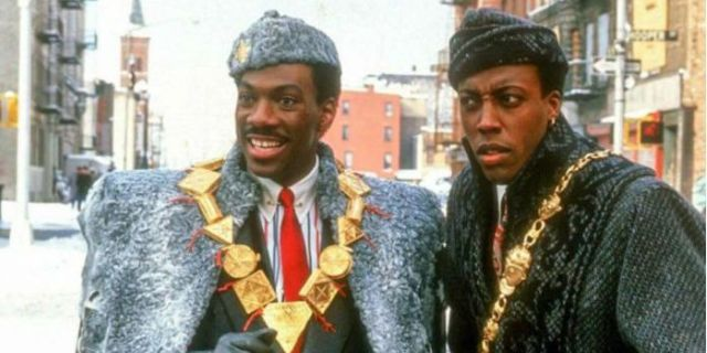 Eddie Murphy and Arsenio Hall Arrive for Coming to America Sequel Filming