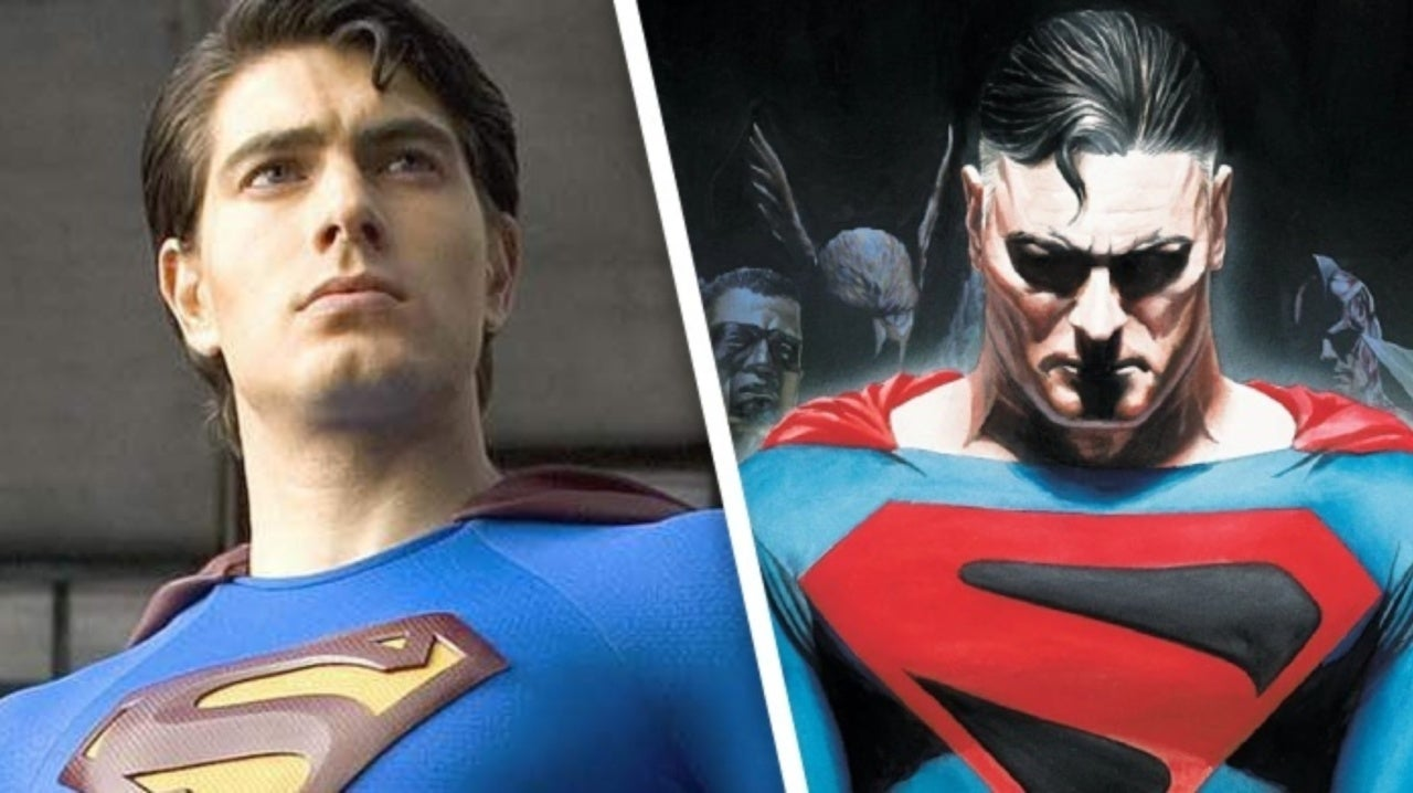 Alex Ross Draws Brandon Routh as Kingdom Come Superman for Crisis on Infinite Earths
