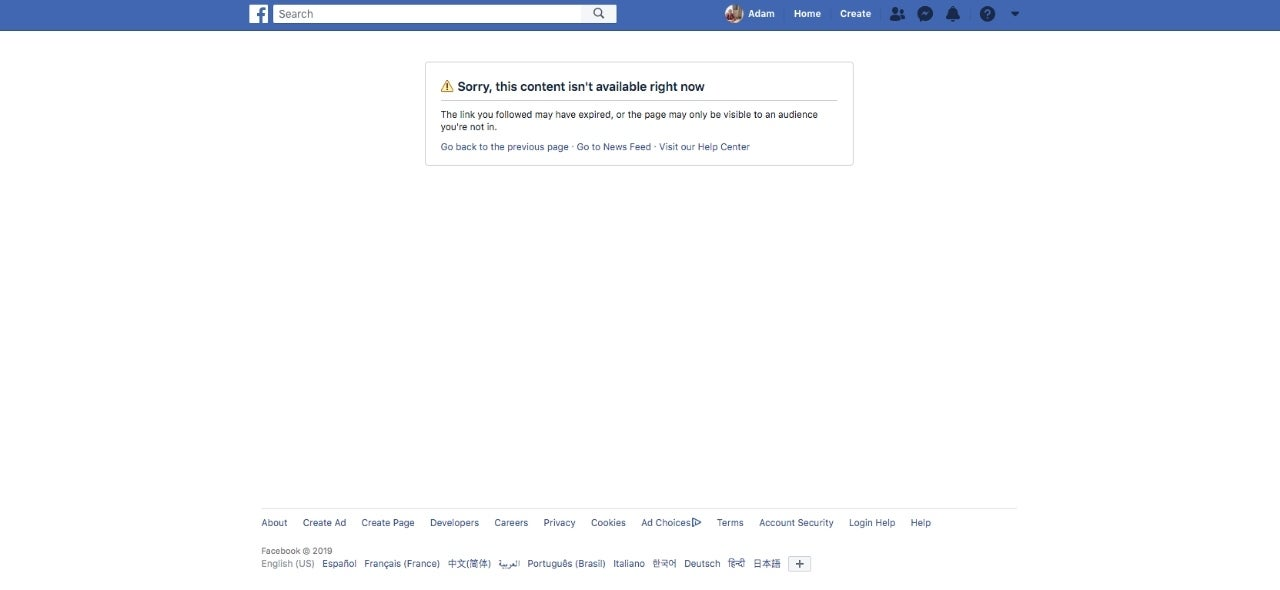 facebook-content-not-available